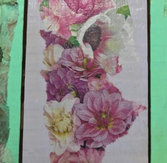 Gulv med blomster